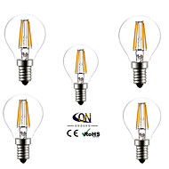5 kpl ONDENN E14 4 COB 400 LM Lämmin valkoinen G45 edison Vintage LED-hehkulamput AC 220-240 V