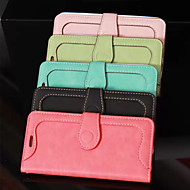Sewing Thread Framing PU Leather Cover with Stand for iPhone 5/5S Case (Assorted Color)