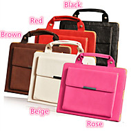 Portable Briefcase Design Folio Stand PU Leather Case for iPad Air (Assorted Colors)