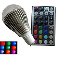 1개 SchöneColors GU10/B22 9 W 3PCS 고성능 LED RGB LM 색상 변경/RGB B 밝기 조절/리모컨 작동/장식 글로브 전구 AC 85-265 V