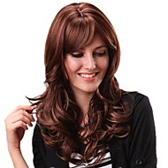 Women Long American Side Bang Curly Hair Synthetic Wigs
