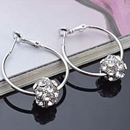 Øreringe Store øreringe Smykker 2pcs Bryllup / Party Titanium Stål Dame Sølv