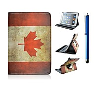 7.9 Inch Flag Pattern 360°Rotation PU Leather Case with Stand for iPad mini 1/2/3