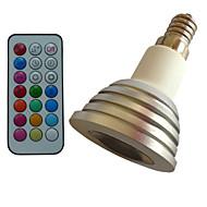 E14 LED-spotlights MR16 1PCS Högeffekts-LED lm RGB Dimbar / Fjärrstyrd / Dekorativ AC 85-265 V 1 st