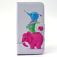 Για Samsung Galaxy Θήκη Πορτοφόλι / Θήκη καρτών / με βάση στήριξης tok Πλήρης κάλυψη tok Ελέφαντας Σκληρή Συνθετικό δέρμα SamsungS6 edge