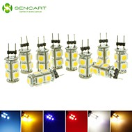 10x G4 GZ4 MR11 2W 9 LED 5050 Blue / Red / Warm White / Green / Yellow / White  LED Interior Lights Lamp DC12V