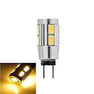 1 pcs G4 5W 10X SMD 5730 200LM 2800-3500/6000-6500K Warm White/Cool White Corn Bulbs DC 12V