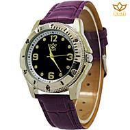 Männer runde Zifferblatt beiläufige Uhr Lederband Quarzuhr Mode Armbanduhr (farbig sortiert)