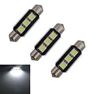 3 stk. Festoon 1 W 3 SMD 5050 60-70lm LM Kold hvid Dekorationslampe DC 12 V