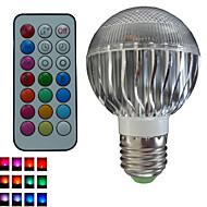1개 SchöneColors® GU10/E26/E27 8 W 3 고성능 LED 500 LM 색상 변경/RGB B 밝기 조절/리모컨 작동/장식 글로브 전구 AC 85-265 V