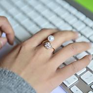 Γυναικεία Βέρες Προσαρμόσιμη κοσμήματα πολυτελείας κοστούμι κοστουμιών Μαργαριτάρι Στρας Προσομειωμένο διαμάντι Κράμα Κοσμήματα Για Γάμου