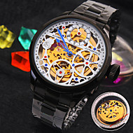 Men's New Explosion Round  Dial Stainless steel Strap Fashion Business Mechanical Watch  (Assorted Colors)
