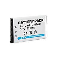 CNP20 - Li-ion - Batteri - tillfor Casio Exilim Card EX-S880 Exilim EX-M1 Exilim EX-M20U Exilim EX-S100WE Exilim EX-S20<br>Exilim EX-Z4