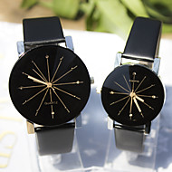 Couple's New Explosion Models Gear Graphic Design Dial Diamond Fashion Business Quartz Watch