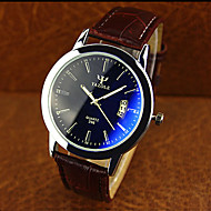 High-grade Leather Blue Ray Glass Business Quartz Watch