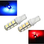 2 kpl ding yao T10 5.0 W 13 SMD 5050 1200 LM Kylmä valkoinen/Punainen/Sininen/Keltainen Halogeenilamput DC 12/DC 24 V
