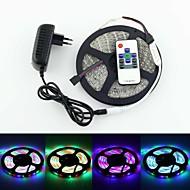 RGB-valonauhat RGB - 3528 SMD - 3528 SMD - Leikattava/Kauko-ohjain/Himmennettävät/Yhdistettävä/Itsekiinnittyvä/Vaihtuva väri - 5 - ( M ) -