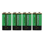9V batería alcalina (4pcs)