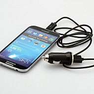 usb billaddare med EU-kontakt och mikro-USB-kablar till Samsung Galaxy S3 / 4 htc m.fl.