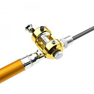 Drum Wheel Pen Shape Fishing Rod + Reel Golden 1m Set
