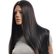 דגמים חמים באירופה ובאמריקה מגולפות סימולציה באיכות גבוהה סינתטית ארוכה ישר פאת שיער של שיער אדם