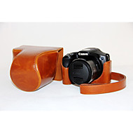 Dengpin PU Leather Oil Skin Detachable Camera Cover Case Bag for Canon PowerShot SX530 HS SX520 HS (Assorted Colors)