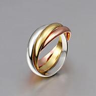 指輪 ファッション / タッセル / クロスオーバー 結婚式 / パーティー / 日常 / カジュアル ジュエリー 純銀製 / ゴールドメッキ / ローズゴールドめっき 女性 バンドリング 1個,8 ゴールデン