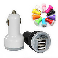 gym warna-warni charger usb mobil untuk iphone 4/5/6/6 ditambah dan ipad (berbagai macam warna)