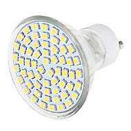 1 pcs 7.5 W 60 LED X SMD 3528 570 LM 3500K / 6000K Warm White / Natural White GU10 Spot Lights (110-240V)