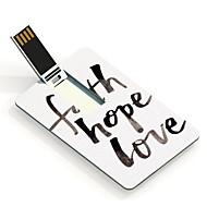 16gb speranza di fede e di amore card design usb flash drive