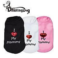 Alle årstider - Sort / Hvid / Pink Terylene - T恤衫 - Hunde / Katte - XXS / XS / S / M / L