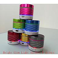 원통형 다채로운 LED 조명 미니 스테레오 블루투스 핸즈프리 전화 통화 스피커 카드