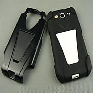 1pcs borracha de silicone preta de alto impacto ficar tampa do caso para Samsung Galaxy SIII i9300 s3