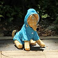 犬のための蛍光色のレインコート(XS-XL、分類された色)