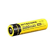 18650 2600mAh 3.7V Li-ion rechargeable batteries de Nitecore