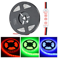 HML Waterproof 72W 300-SMD 5630 LED Red/Green/Blue Light Strip - w/ HML Mini controller (DC 12V / 5m)