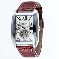 Men's Rectangle Alloy Dial Leather Strap Automatic Mechanical Waterproof Watch(Assorted Colors) Cool Watch Unique Watch Fashion Watch