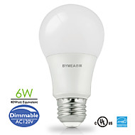 E26 LED-globepærer A60(A19) 14 SMD 2835 500 lm Varm hvid / Kold hvid / Naturlig hvid Justérbar lysstyrke AC 110-130 V 1 stk.