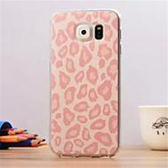 rosa padrão de leopardo grãos ultrafinos TPU tampa traseira macio para samsung galaxy S6