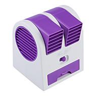 mini bärbara usb / 3 x AA drivs bladeless turbin aromaterapi parfym fan - lila