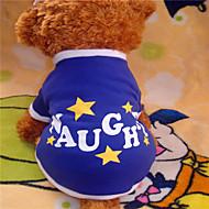 T-majica za Psi Plav Zima XS / S / M / L Miješani materijal