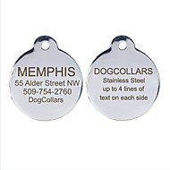 Personalized Free Engraving Stainless Steel Dog ID Tag for Pet(Assorted Sizes)