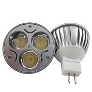 1 kpl GU5,3 6.0 W 3 Teho-LED 400 LM Lämmin valkoinen/Kylmä valkoinen MR16 Kohdevalaisimet DC 12/AC 12 V