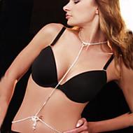 Női Testékszer Deréklánc Body Lánc / Belly Chain Strassz utánzat Diamond Egyedi Divat Menyasszonyi Sexy Ékszerek Fehér ÉkszerekNapi