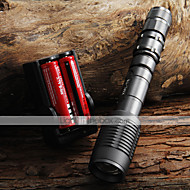 LED Flashlights / أضواء فلاش يدوية LED 5 طريقة 2000 شمعة Adjustable Focus / زوومابلي Cree XM-L T6 18650Camping/Hiking/Caving / Everyday