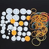 paquete de combinación de polea de plástico diy kit de accesorios pequeños de polea