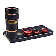 apexel 4 in 1 objektiivipakkaus 8x teleobjektiivi + laajakulma-+ makro-objektiivi + fisheye linssi takaisin iPhone 5 5s