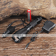 LED Flashlights / Handheld Flashlights LED 5 Mode 2200/1000 Lumens Adjustable Focus / Waterproof / Rechargeable Cree XM-L T6 18650