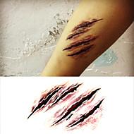 terror do dia das bruxas assustador ferida adesivos tatuagem tatuagens temporárias (1 pc)