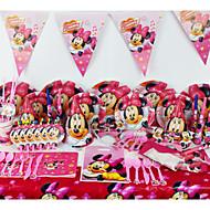 78pcs Minnie Mouse anniversaire de bébé décoration fête fête de fournitures evnent décorations de fête des enfants